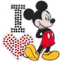 Disney Mickey Mouse Iron-On Applique I Love Mickey #6724 - Sewing Notions