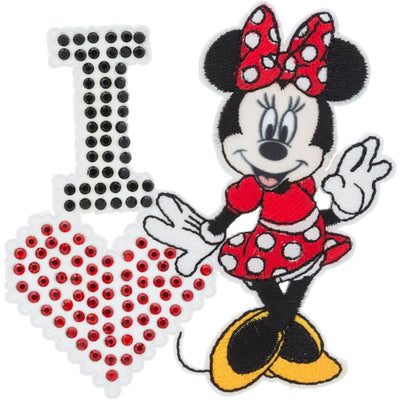 Disney Mickey Mouse Iron-On Applique I Love Minnie Mouse #6725 - Sewing Notions
