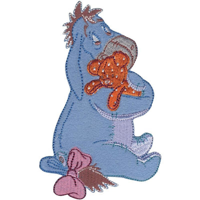 Disney Winnie The Pooh Iron-On Applique Eeyore W/Bear #6018 - Sewing Notions