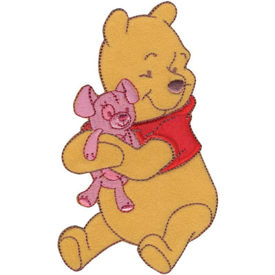 Disney Winnie The Pooh Iron-On Applique Pooh Hugging Bear #6019 - Sewing Notions