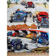 Drag Race Cars Alexander Henry #2030 - Quilting & Sewing Fabric