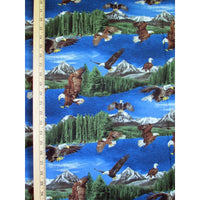 Eagles w/ Pine Trees & Mountain Scenic Timeless Treasures #2001 - Quilting & Sewing Fabric