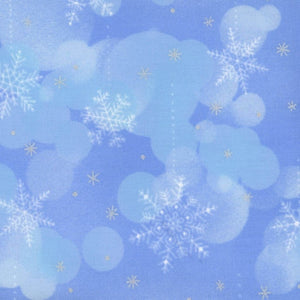 Elite Snowflake Wonderland Blue Bubbles w/ Metallic Maywood Studios #6234 - Quilting & Sewing Fabric