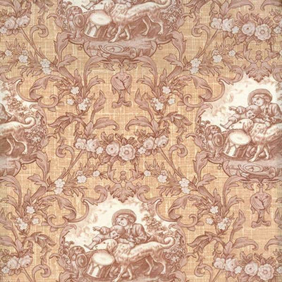 Enduring Grace Toile Scenic Cream Wilmington Prints Fabric #2427 - Quilting & Sewing Fabric