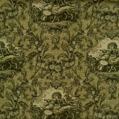 Enduring Grace Toile Scenic Green Wilmington Prints Fabric #2276 - Quilting & Sewing Fabric