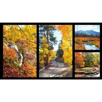 Fall Escapes Scenic Digital 24 Panel Red Rooster #6624 - Quilting & Sewing Fabric