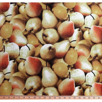 Farmers Market Pears Large Realistic Fruit Food RJR Fabrics #369 - Quilting & Sewing Fabric
