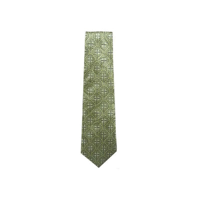 Freeman Budded Cross Sage Green Mens Silk Neck Tie #7442 - Apparel