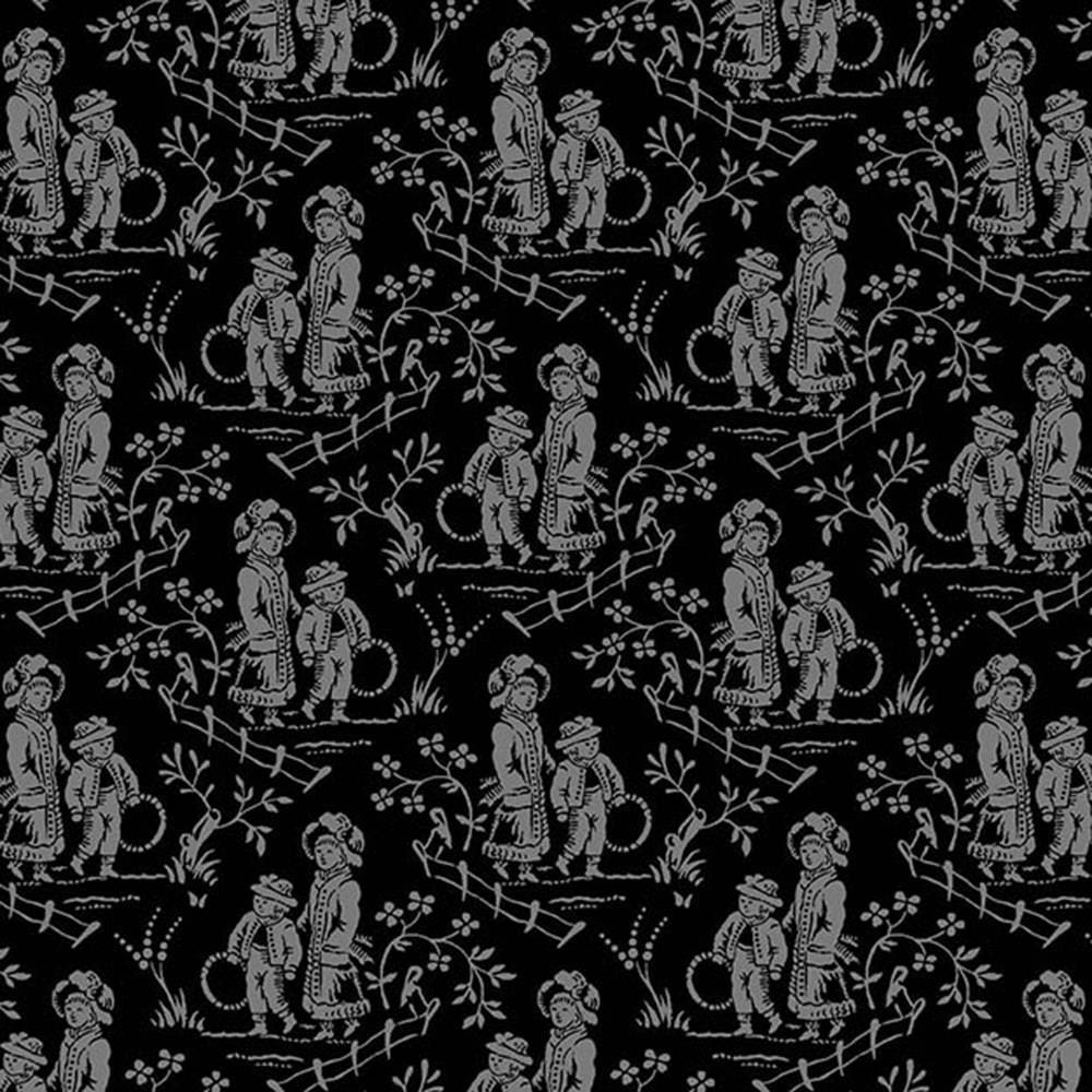 French Laundry Toile Black & Grey Henry Glass Fabric #3339 - Quilting & Sewing Fabric