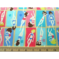 Fun in the Sun Beach Babes Sunbathing Timeless Treasures #938 - Quilting & Sewing Fabric