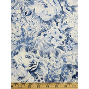 Garden Twist Anniversary Floral Blue In the Beginning Fabrics #1295 - Quilting & Sewing Fabric