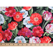 Garden View Multi Floral Flowers Roses Tulips Wilmington Prints #2082 - Quilting & Sewing Fabric