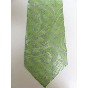 Gospitality Religious Mens Neckties Tiny Fish Green Polyester #5481 - Apparel