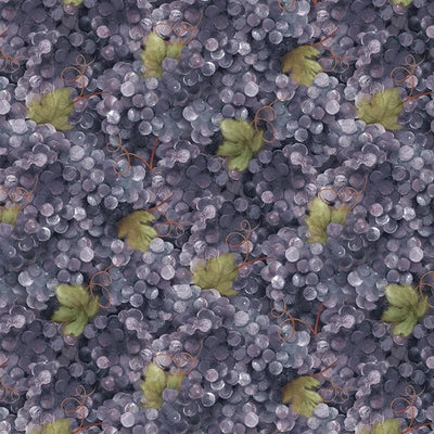 Grape Vine Vino Bellisimo Purple Grapes Wilmington Prints #3518 - Quilting & Sewing Fabric