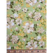 Green Magnolias Floral Sunshine Bouquet Wilmington Prints #1607 - Quilting & Sewing Fabric