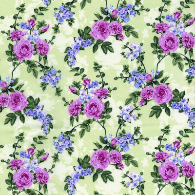 Green Peridot Hydrangea Melrose Beverly Park Floral RJR Fabric #7185 - Quilting & Sewing Fabric