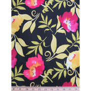 Happy Go Lucky Large Floral Black Nel Whatmore Free Spirit #736 - Quilting & Sewing Fabric