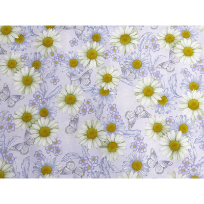 He Still Loves Me Daisies & Butterflies Purple Benartex #3010 - Quilting & Sewing Fabric