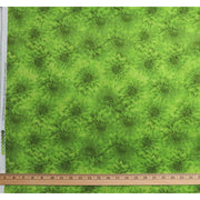 Hello Dahlia Lime Green Floral Texture Blender Wilmington Prints #1987 - Quilting & Sewing Fabric