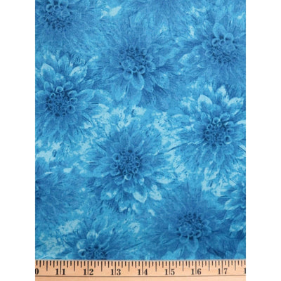 Hello Dahlia Teal Floral Texture Blender Wilmington Prints #1986 - Quilting & Sewing Fabric