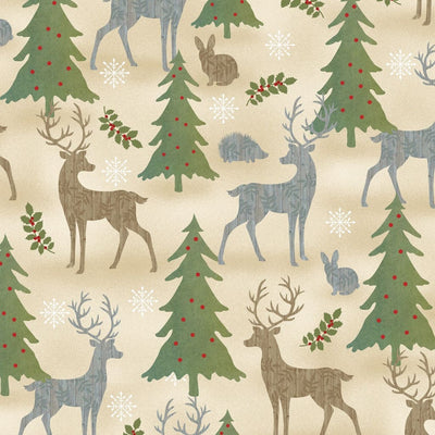 Holiday Meadows Wildlife Animals 70431-273 Wilmington Prints #7687 - Quilting & Sewing Fabric
