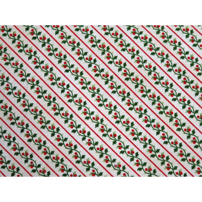 Holly Stripe Yuletide Memories Cream Windham Fabrics #5712 - Quilting & Sewing Fabric