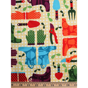 Hoodie Garden Planting Equipment Timeless Treasures #1166 - Quilting & Sewing Fabric