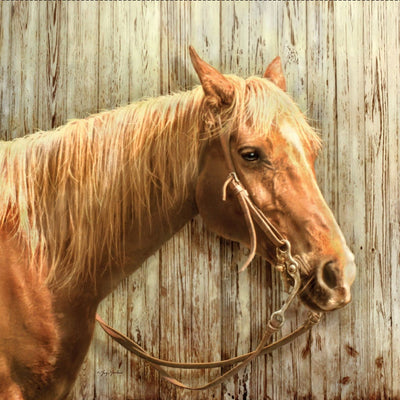 Horses Palomino Digital Panel Penny Rose Fabrics #7209 - Quilting & Sewing Fabric