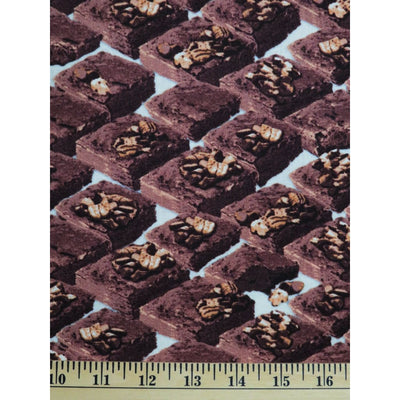 In the Mix Brownies with Nuts Dessert Food Windham Fabrics #1636 - Quilting & Sewing Fabric