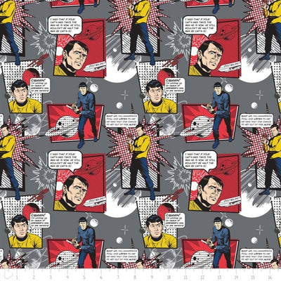 Iron Star Trek Comic Quotes Camelot Fabric #5724 - Quilting & Sewing Fabric