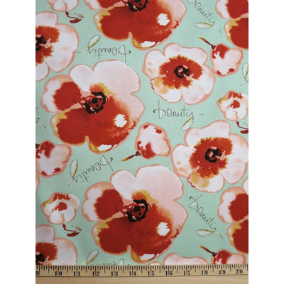 Journeys By Beauty Words & Floral Kathy Davis Free Spirit #738 - Quilting & Sewing Fabric