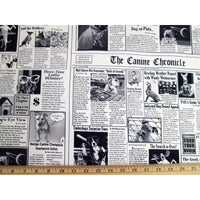 K9 Chronicles Canine Dog Newspaper Timeless Treasures #6617 - Quilting & Sewing Fabric