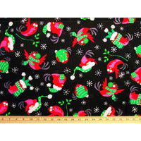 Kanvas Christmas Birds Holiday Black Benartex #3372 - Quilting & Sewing Fabric
