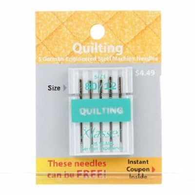 Klasse Carded Quilting Sewing Machine Needle Size 80/12 5ct #4428Q - Sewing Notions
