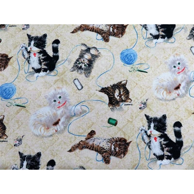Krafty Kittens Crafts Cream Yarn Spectrix #3506 - Quilting & Sewing Fabric
