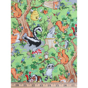 Krazy Kritters Wildlife Animals Allover Scenic Nature Outdoors #6382 - Quilting & Sewing Fabric