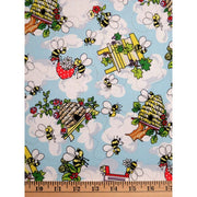 Krazy Kritters Wildlife Bees in Bee Hives Nature Outdoors #6380 - Quilting & Sewing Fabric