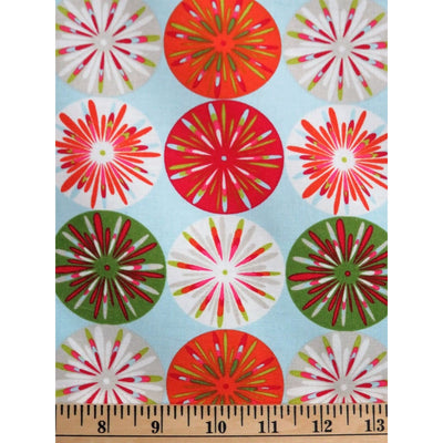 Kumari Garden Holiday Circles Geometric Dena Designs Free Spirit #760 - Quilting & Sewing Fabric
