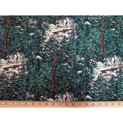 Landscape Yosemite Forest Trees Nature / Outdoors #1784 - Quilting & Sewing Fabric