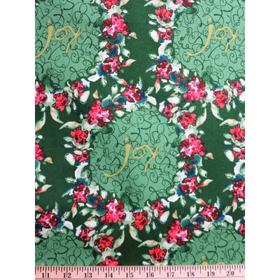 Large Wreaths Ambrosia Christmas Wreath KD31 Kathy Davis #705 - Quilting & Sewing Fabric