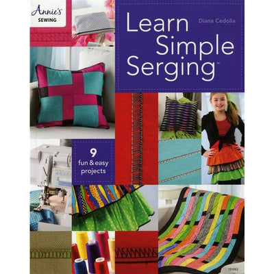 Learn Simple Serging Sewing Annies Craft Store - Softcover #4965 - Books & CDs