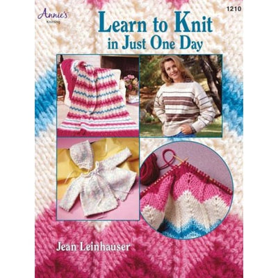 Learn to Knit in just One Day Jean Leinhauser Annies Softcover Book #4329 - Books & CDs