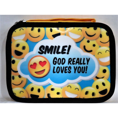 Lenticular Bible Covers Smile! God Really Loves You! Swanson #7265 - Christian Products