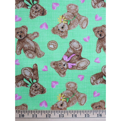 Licensed Boyds Bears Hearts & Daisies Four Seasons Spectrix Fabric #1772 - Quilting & Sewing Fabric
