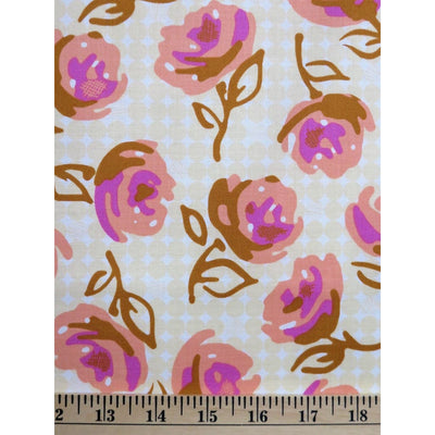 Lilyrose Weekends Butter Roses Floral EM22 Free Spirit #731 - Quilting & Sewing Fabric
