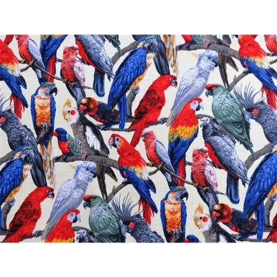 Living Wonders Realistic Parrots Yellow Fabri-Quilt #4398 - Quilting & Sewing Fabric