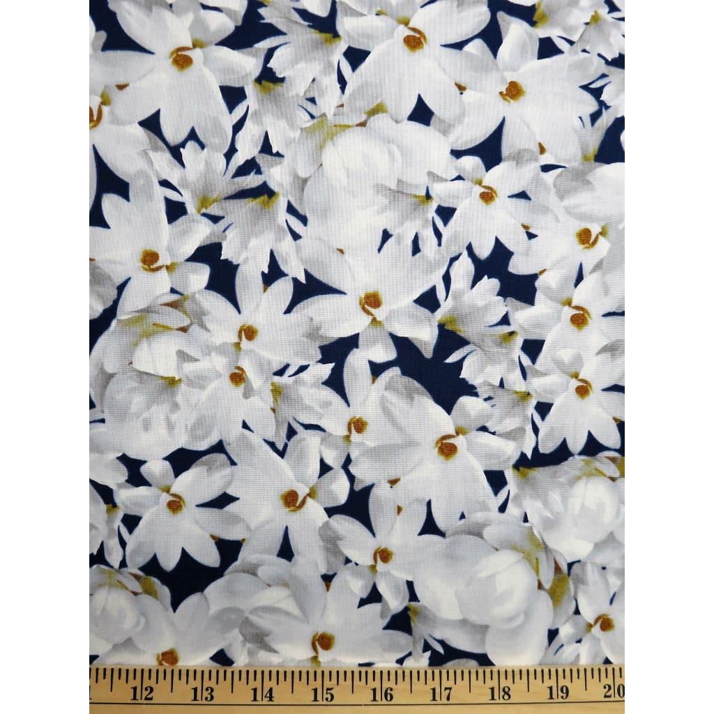 Magnolia Floral Vignettes Mississippi & Louisiana Paintbrush Studio Fabrics #868 - Quilting & Sewing Fabric
