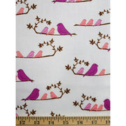 Mammabirds White Wrenly Birds Valori Wells for Free Spirit #593 - Quilting & Sewing Fabric
