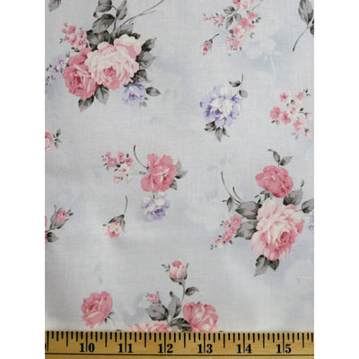 Margeaux Design Roses Grey Robert Kaufman Fabrics #7179 - Quilting & Sewing Fabric