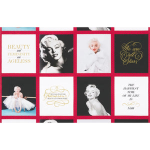 Marilyn Monroe Digital Print Squares 23in Panel Lipstick Robert Kaufman #7005 - Quilting & Sewing Fabric